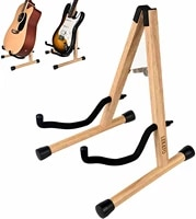 lekato lgs 10 electric guitar rack stander holder folding a frame with padded foam instruments musical sports entertainment
