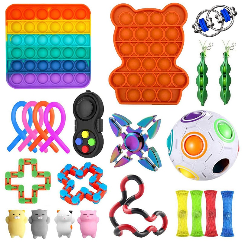 Fidget Toys Anti Stress Set Stretchy Strings Pop It Popit Gift Pack Adults Children Squishy Sensory Antistress Relief Bubble enlarge