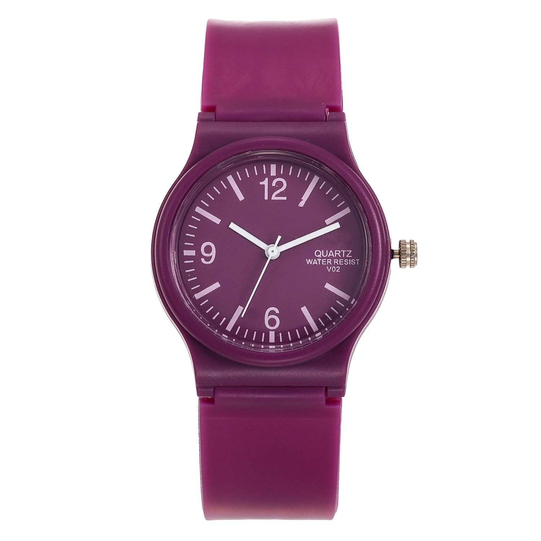2021 New simple silicone Brand WOKAI Casual Quartz Watch Women Crystal Silicone Watches Relogio Femi