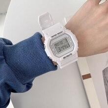 2021 Women's Simple Digital Luminous Electronic Watch Unisex Kids Square Watch Sports Student Waterp