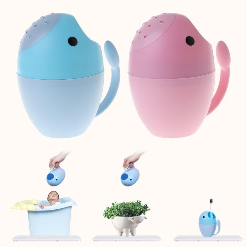Baby Shower Cup Bath Spoon Cartoon Toys Newborn Kids Children Infant Bathroom Bathtub Shampoo Cups Head Hair Washing Spoons