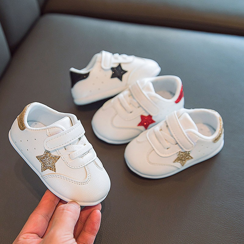 New Baby Shoes Sneakers Cute Star Toddler Shoes for Boy Girl Soft Cotton Anti Slip Spring Autumn Baby Boy Shoes First Walkers