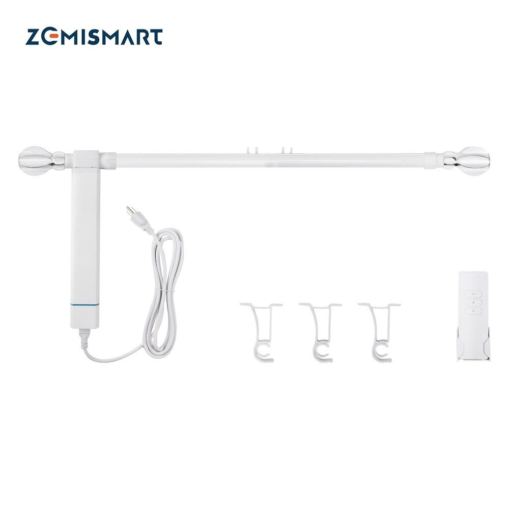 Zemismart Tuya WiFi الروماني قضيب الستار الذكية التلقائي بمحركات المحرك الكهربائي جوجل المنزل أليكسا التحكم الصوتي الموقت