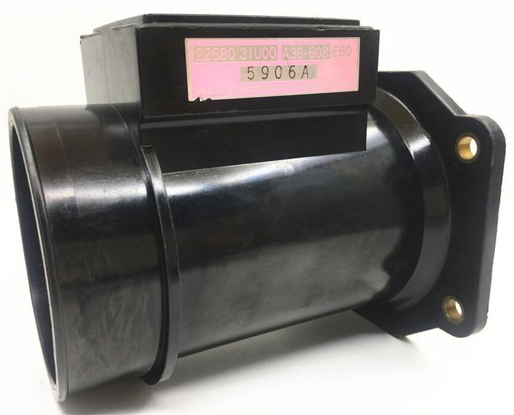 1 pieza Japón Original de flujo de aire de masa medidores 22680-31U00 22680-31U05 A36-608 sensores de flujo de aire para Nissan Cefiro A32 Infiniti I30 Q45
