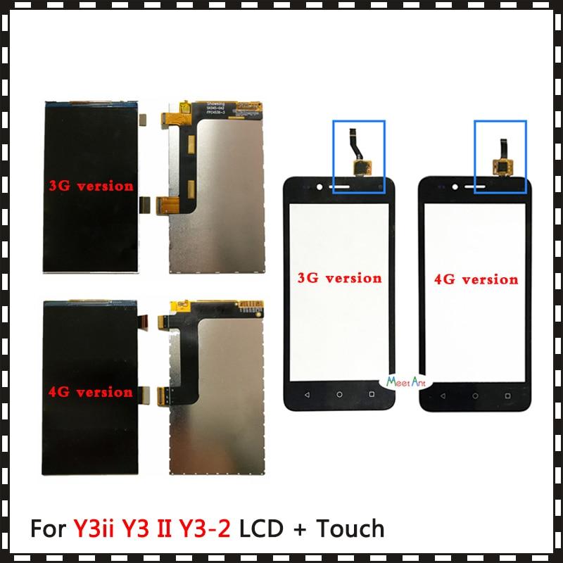 Para Huawei Y3ii Y3 II Y3 2 3G 4G LUA-U03 LUA-L03 LUA-U23 LUA-L13 LUA-L23 LUA-L21 pantalla Lcd o Digitalizador de pantalla táctil Sensor