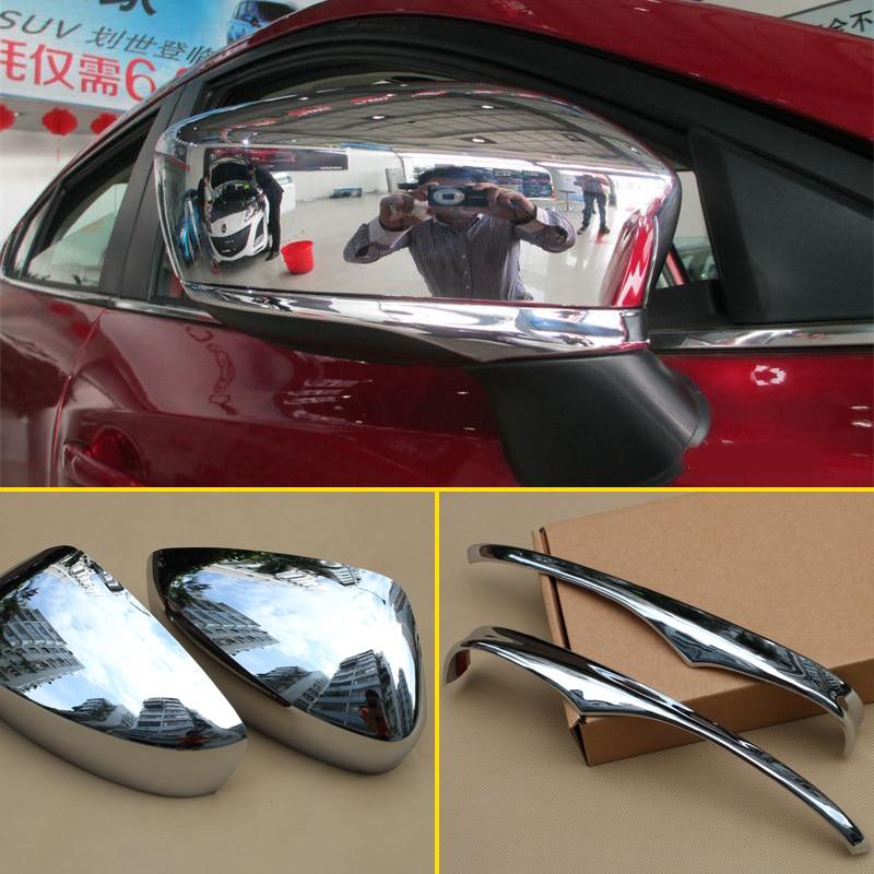 Couvercle de rétroviseur extérieur   Adapté pour Mazda 2 3 rétroviseur arrière chromé, garniture de moulage extérieur, accessoires 2014 2015 2016 2017 2018