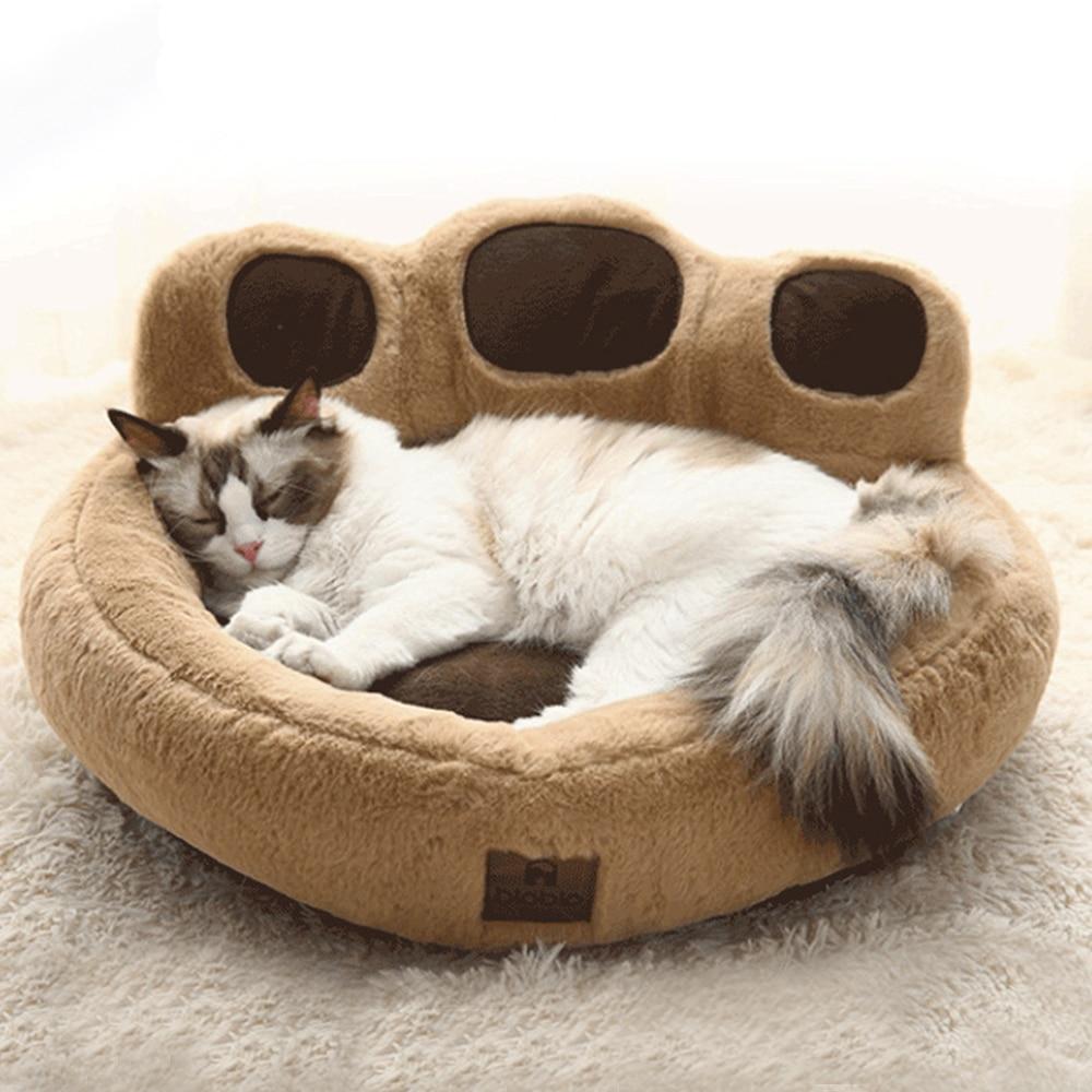 Gato pata sofá cama gatinho pequeno animal de estimação macio almofada kitty nest cama cesta de sono inverno quente aconchegante esteira cashhouse curto pelúcia lavável