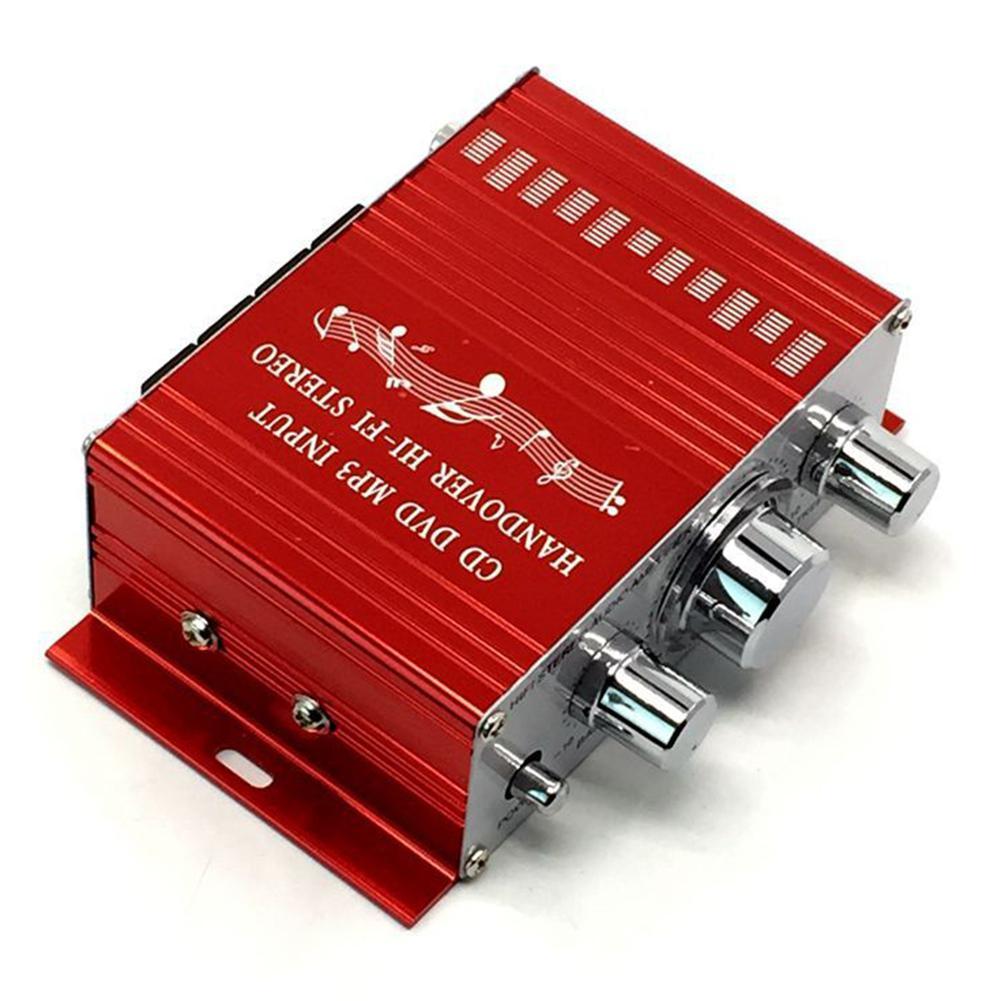 12V 20W Mini Hi-Fi Stereo Audio Small Amplifier for Car Motorcycle Home Boat Auto Stereo Audio Radio MP3 Small Amplifier