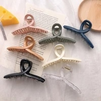 new popular women hair clip acrylic hairpins cross transparent hair crab claws girls make up washing tool accessories decoration