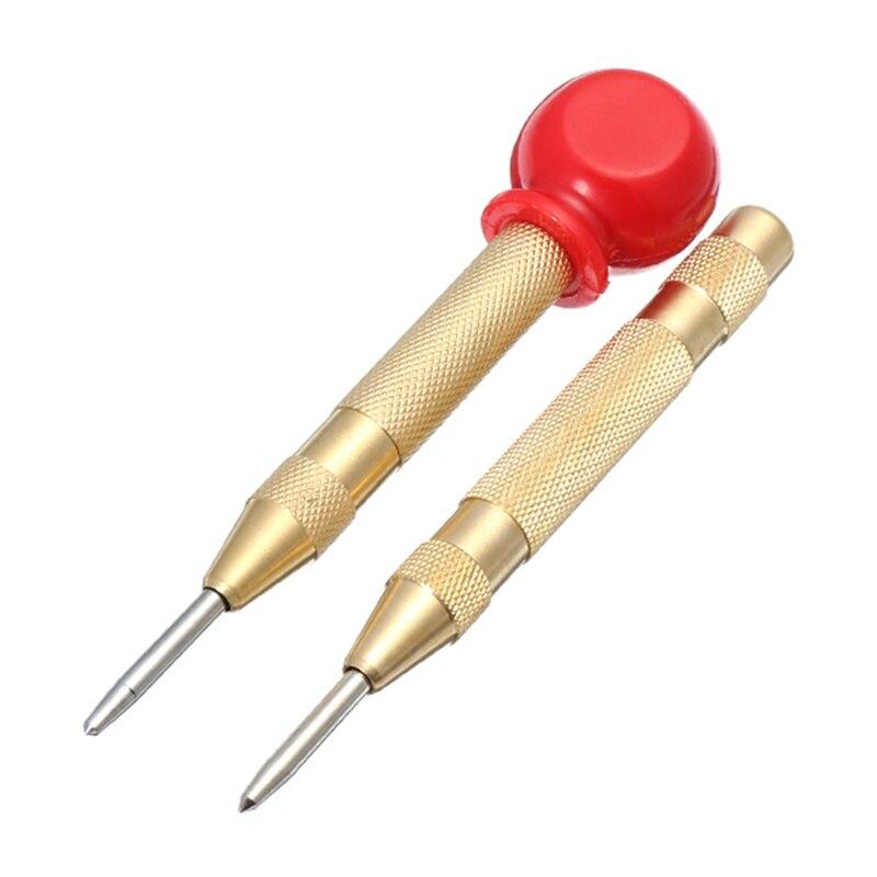 Perno central automático de 6mm, punzón central automático, resorte, marcado, agujeros de inicio, herramienta de acero