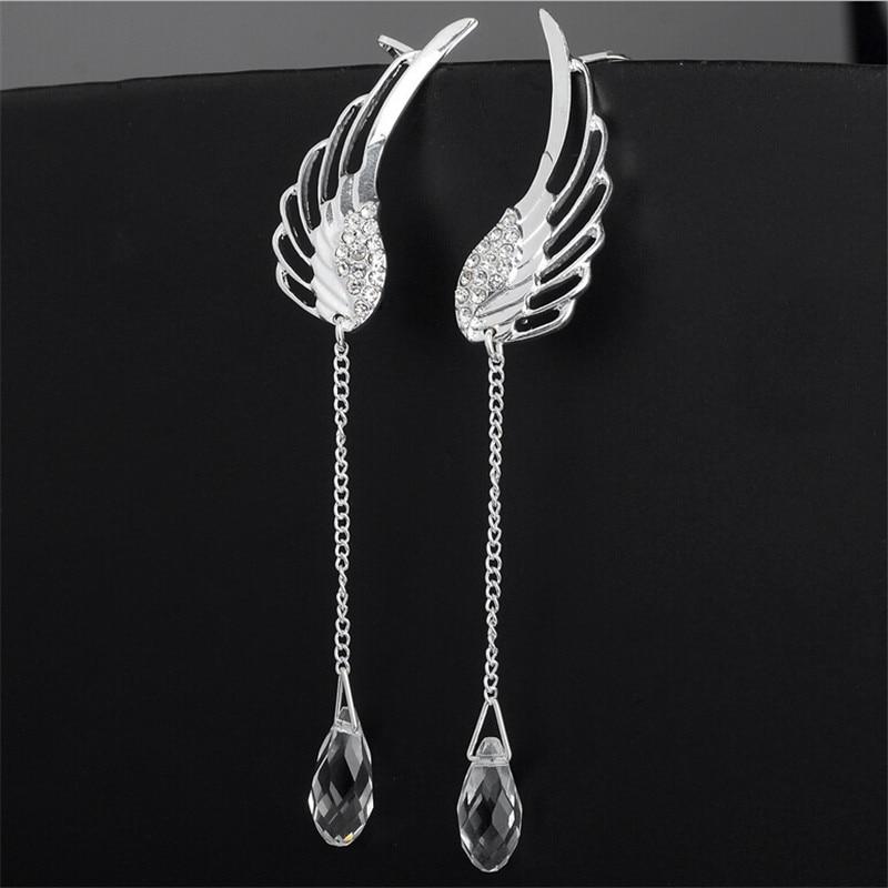 Posrebrene anđeoske kristalne naušnice kristalne naušnice za - Modni nakit - Foto 6