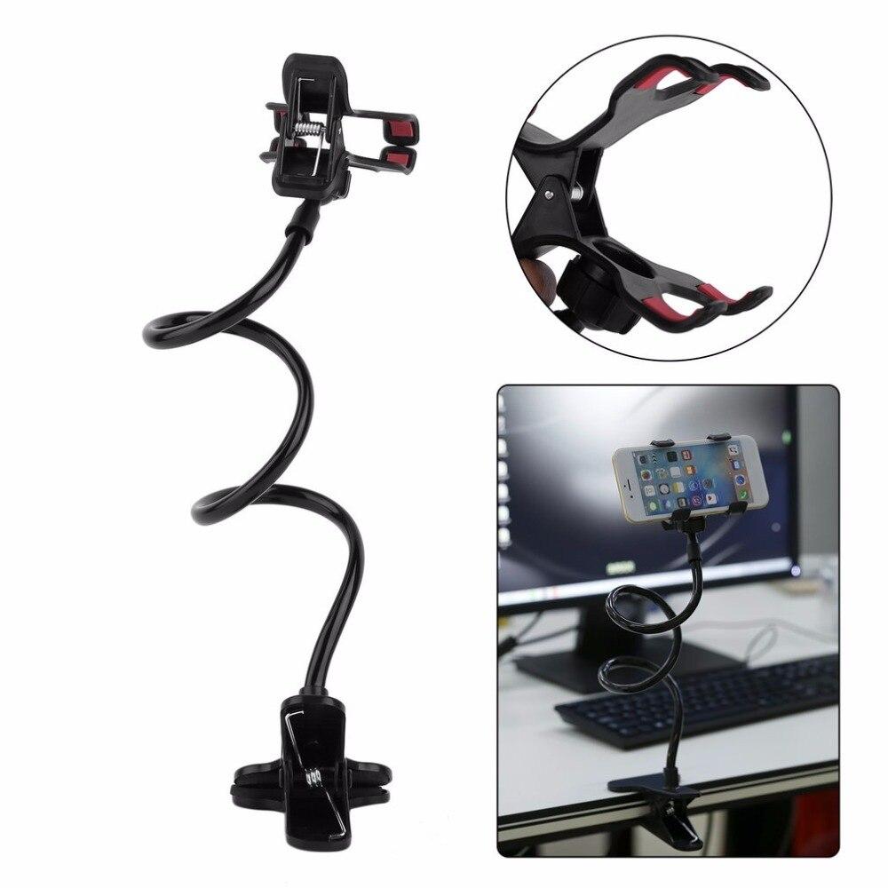 Soporte para teléfono móvil con soporte ajustable para teléfono inteligente soporte para cama mesa de escritorio soporte plegable largo