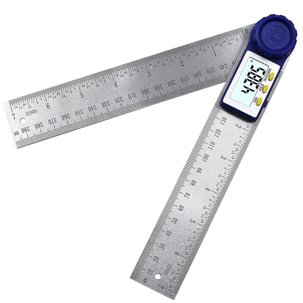 laoa 400mm aluminum 360degree range spirit level vertical flatness test ruler upright inclinometer with magnets protractor ruler Digital Protractor 300mm Digital Angle Finder Protractor Ruler Meter Inclinometer Goniometer Level Electronic Angle Gauge