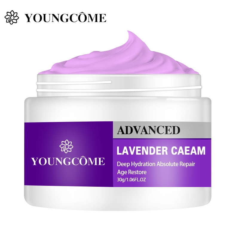YOUNGCOME 50g/30g Lavender Day Night Facial Cream Whitening Moisturizing Wrinkle Lift Firming  Pores