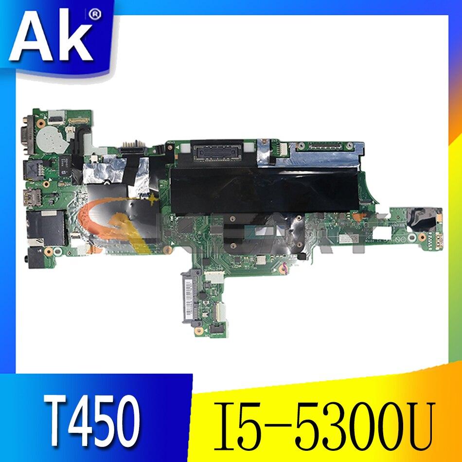 Akemy AIVL0 NM-A251 مناسبة لينوفو ثينك باد T450 اللوحة الأم FRU 00HN525 00HN529 CPU I5 5300U DDR3 100% اختبار