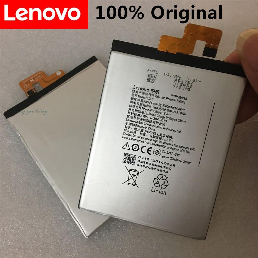 100% Новый оригинальный аккумулятор 4000 мАч BL223 для Lenovo Vibe Z2 Pro k920 K80 K80M K7