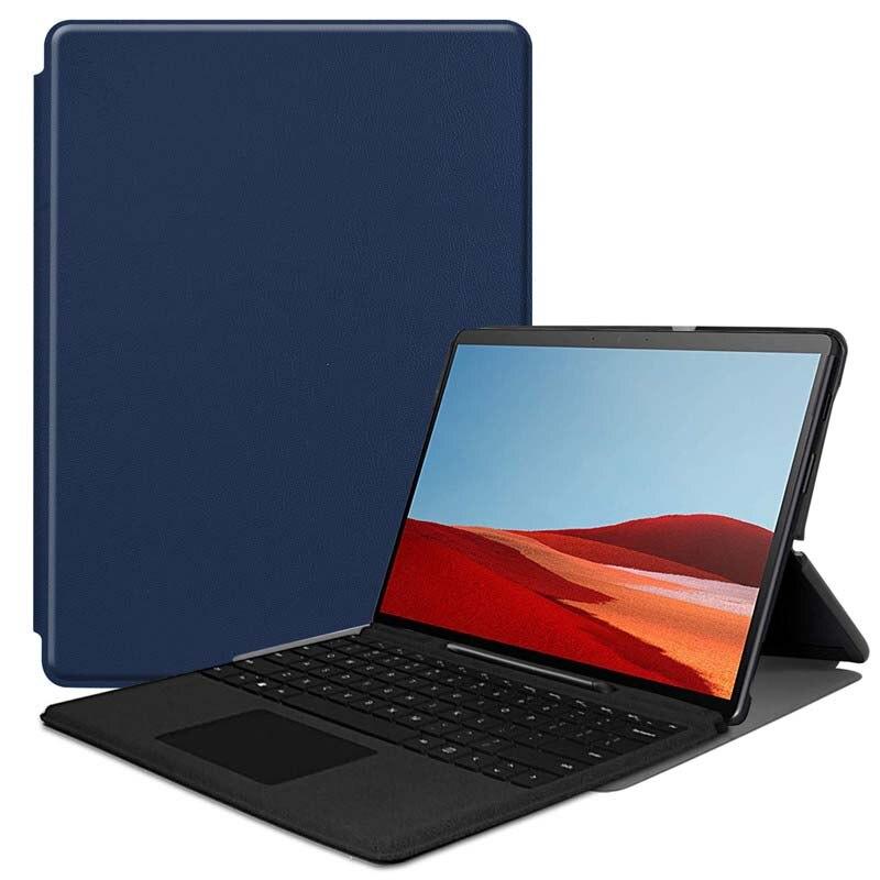 Funda de teléfono con soporte plegable ajustable para Microsoft Surface Pro X Tablet Case KS0489