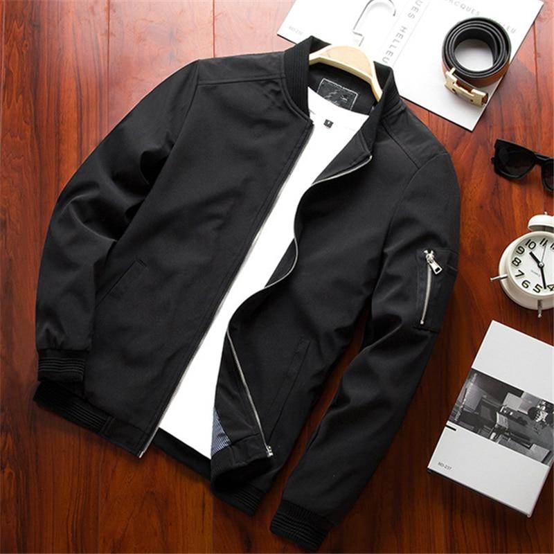 New Men Bomber Jacket Thin Slim Long Sleeve baseball Jackets Windbreaker Zipper Windbreaker Jackets Male Outwear Brand Clothing
