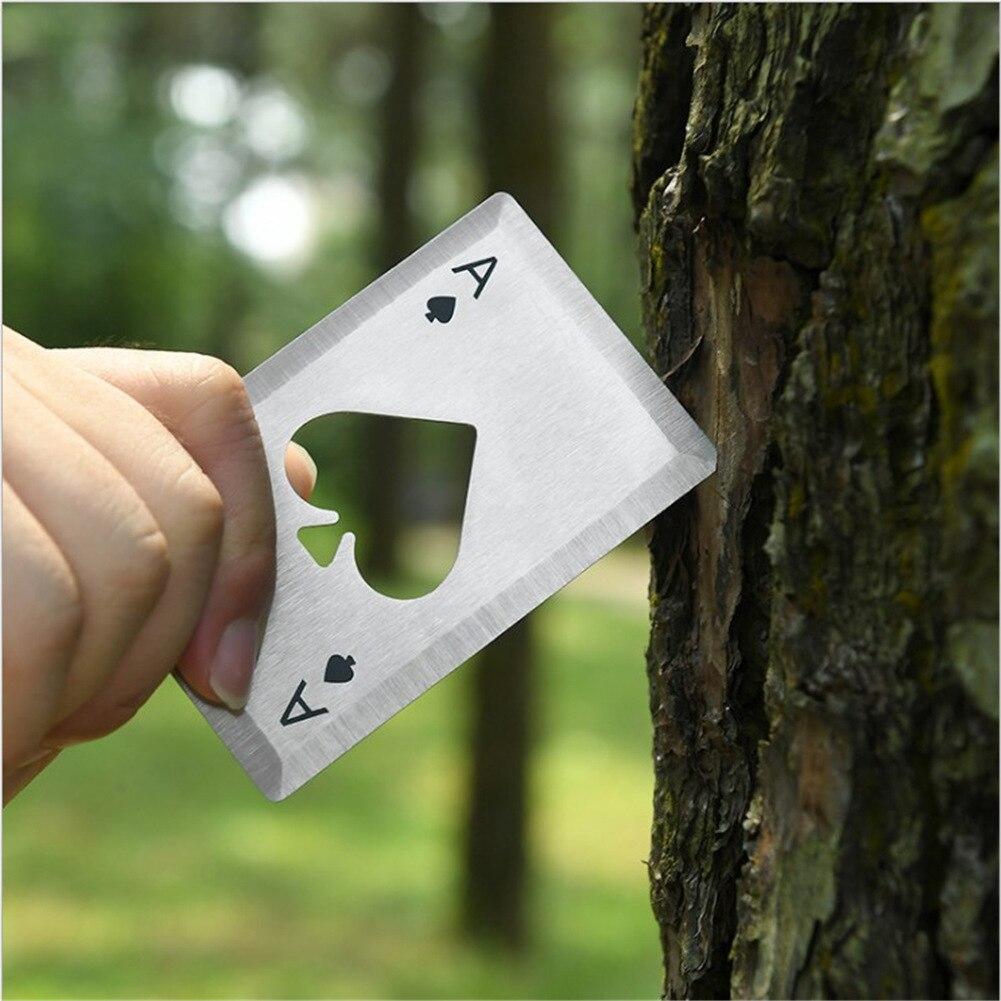 Abrebotellas de acero inoxidable con forma de póker, Abrebotellas de Casino, 1...