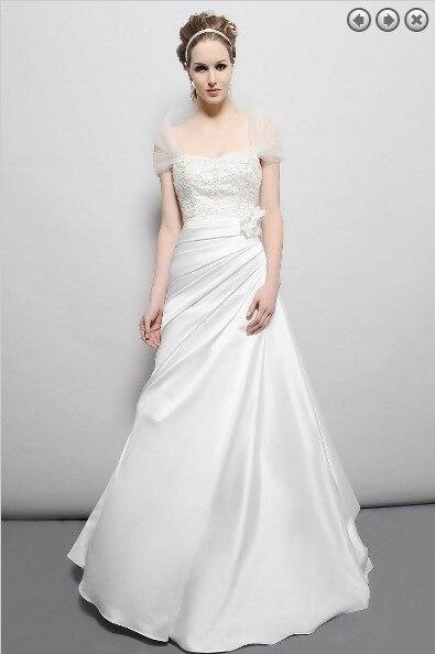 Tren electrico vintage 2021 nuevo vestido de novia de diseño Satén de...