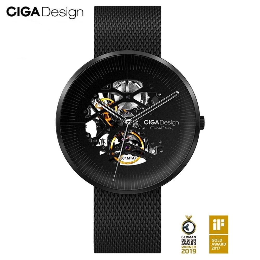CIGA Design-ساعة يد رجالية ميكانيكية ، أوتوماتيكية ، مجوفة ، سلسلة MY