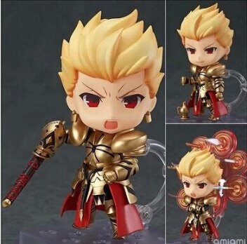 10cm anime fate stay night saber figurine pvc action figure replaceable accessorie model toy birthday gift movie collection New Hot 10cm Fate Stay Night Gilgamesh Anime Action Figure Toys Collection Q Version Toy Doll with Box