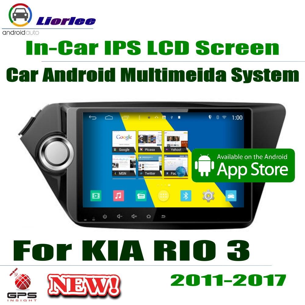"Für Kia RIO 3 2011 ~ 2017 GPS Navigation Carplayer Android System RockChip PX5 1080P 9 ""HD IPS LCD Bildschirm Radio Kopf Einheit"
