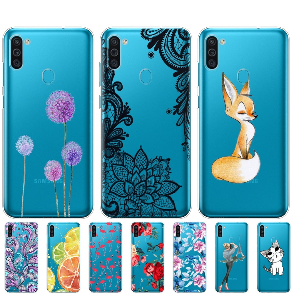 Para Samsung M11 Funda de 6,4 pulgadas de silicona suave Tpu para Samsung Galaxy M11 M 11 SM-M115FMBNSER m115 carcasa trasera para teléfono
