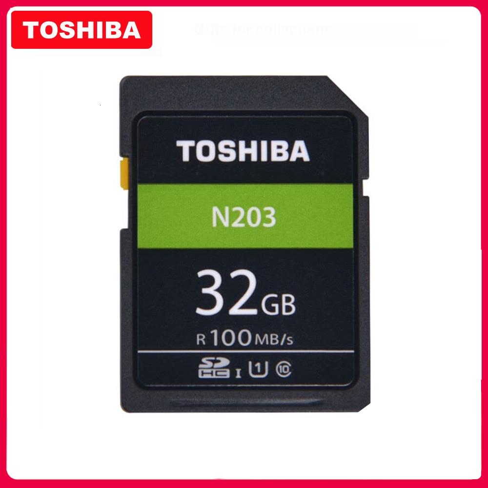 Original TOSHIBA  High Speed Memory SD N203 32G 64G 128G U1 SD Card Support Full HD Shooting for Canon Nikon Digital SLR Camera