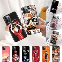 cartoon haikyuu case for samsung galaxy s20 fe s21 ultra phone cover s10 lite s8 s9 plus s10e black soft silicone funda capa