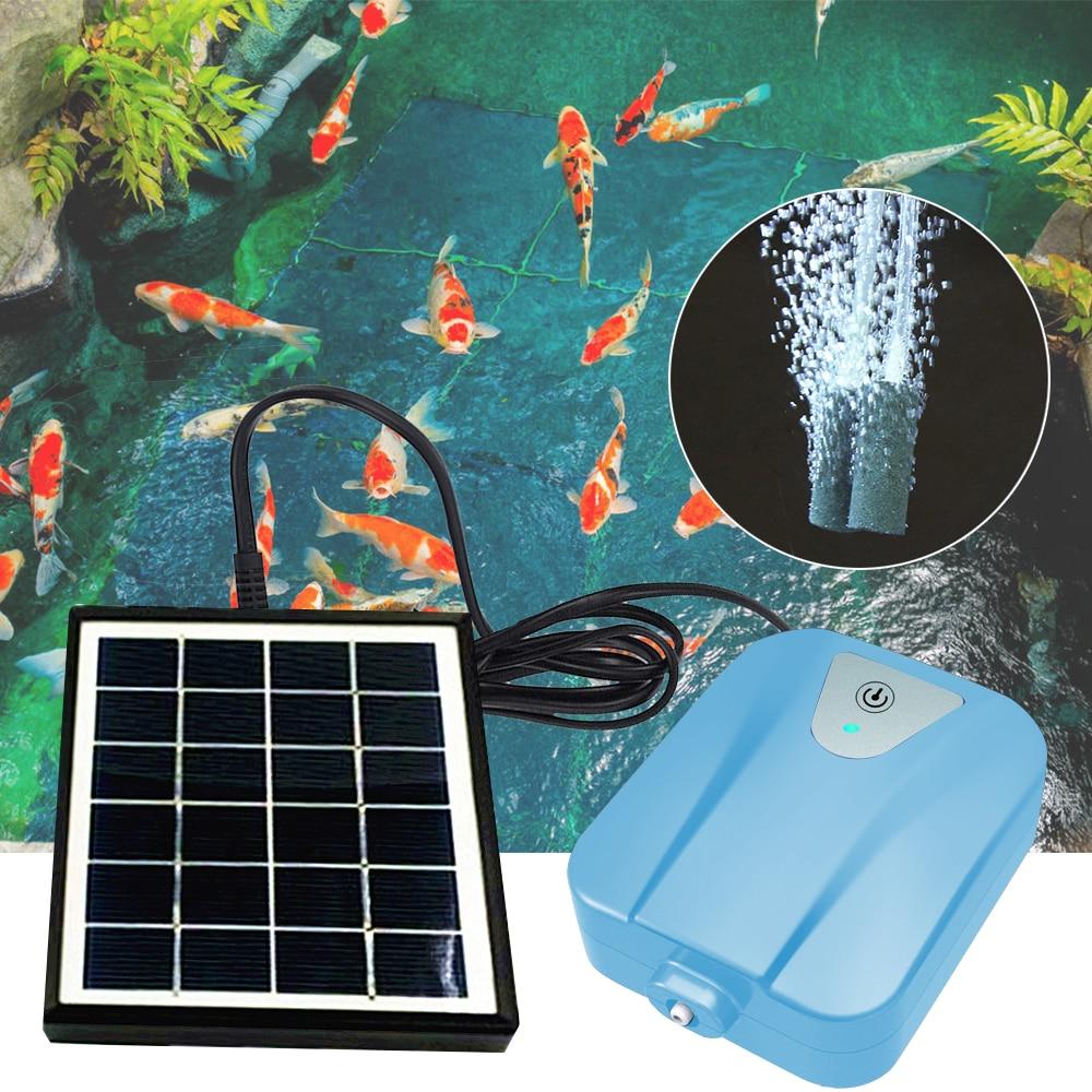 Adeeing Solar oxigenador Agua Bomba de oxígeno estanque Dispositivo de aireación para pecera bomba de aire #9