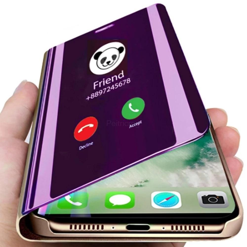 Espelho inteligente vista flip caso do telefone para huawei honra p40 p30 p20 companheiro 30 20 10 lite pro p inteligente z y5 y6 y9 y7 prime 2019 capa