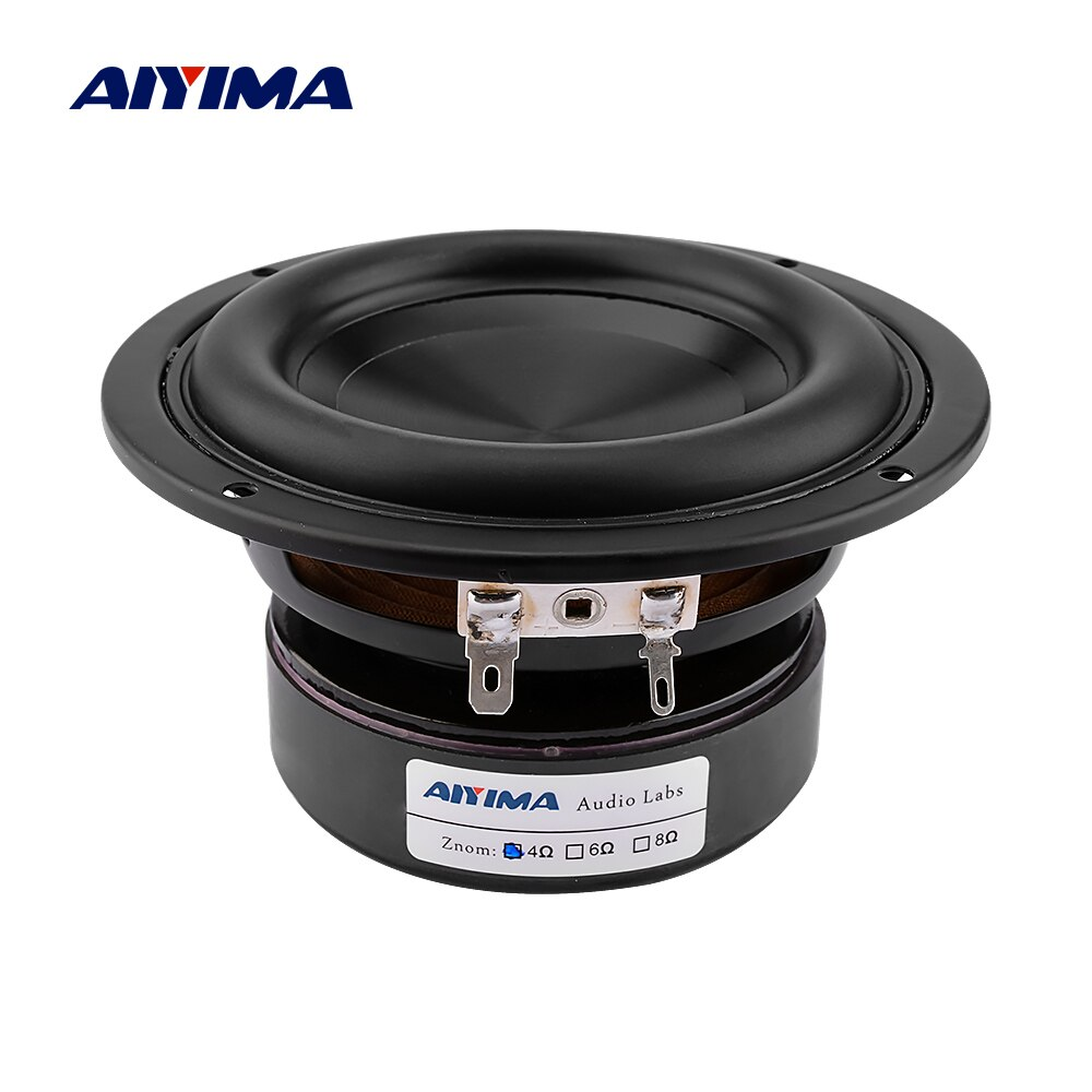 AIYIMA 1Pc 4 pulgadas Woofer Audio altavoz controlador 4 8 Ohm 100W bajo Hifi sonido música impermeable Subwoofer altavoz DIY cine en casa
