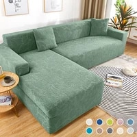 cheap jacquard sofa covers for living room couch slipcover solid color elastic furniture sofa protector cover set corner