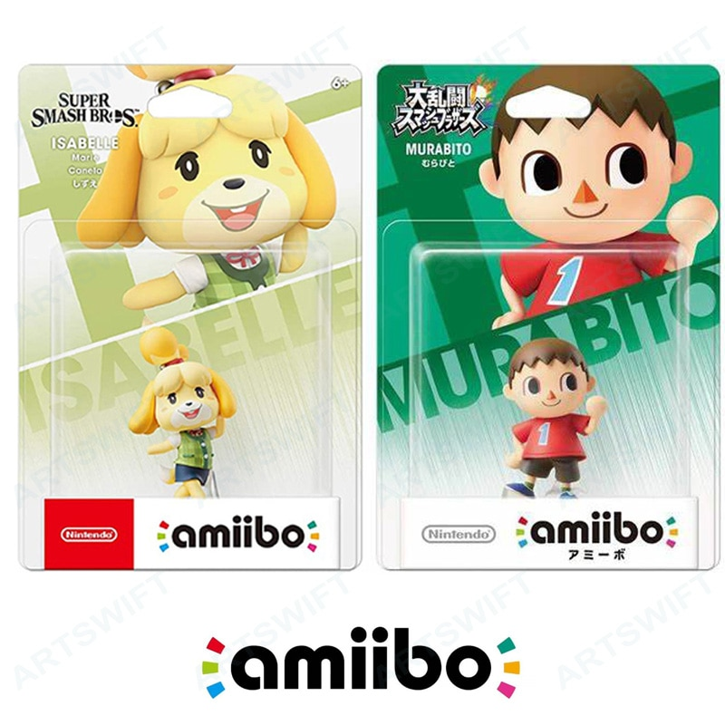 Nintendo switch amiibo figura isabelle vilager super smash animal crossing para ns wii u 3ds