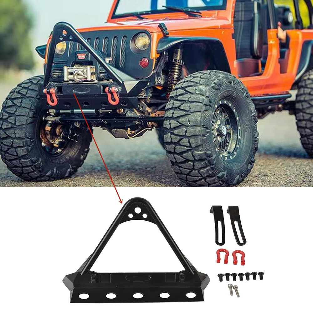 1/10 RC Crawler Aluminum Stubby Stinger Front Bumper for Traxxas TRX4 Axial SCX10 SCX10II 90046 Tamiya CC01 enlarge