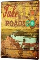 Feu de signalisation retro Vintage nostalgique de voiture  panneau metallique en etain  panneau de decoration  pour maison  Garage  decoration murale de cinema  12x8 pouces
