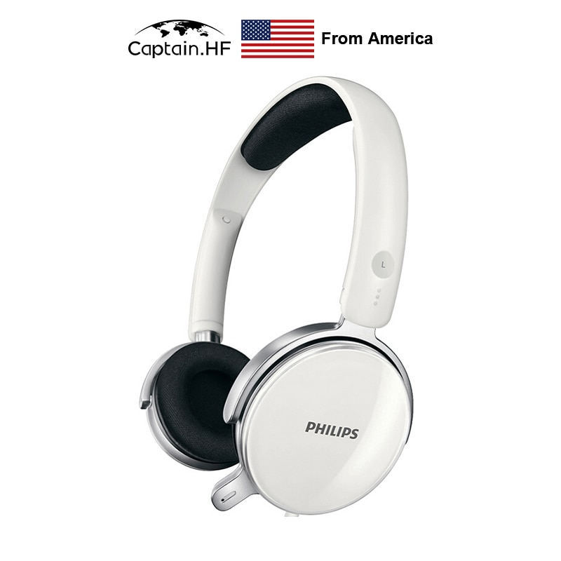 US Captain Philips Wired Headphones Model SHM7110U/27 for PC with Microphone DIY Design Headset