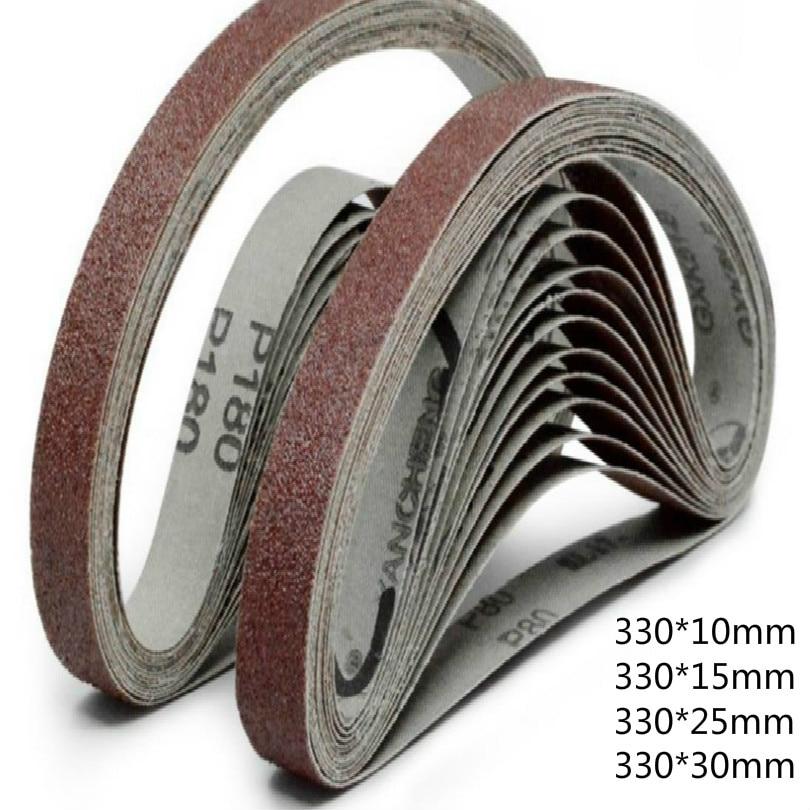 330*10 мм 330*15 мм 330*25 мм 330*30 мм наждачная бумага лента наждачная бумага для шлифовального круга ремни 40-600mesh