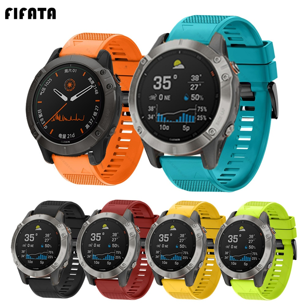 FIFATA Smart Watch Band Straps For Garmin Fenix 6 6S 6X 5X 5 5S 3 3HR Forerunner 935 945 Quick Release Strap Silicone Bracelet