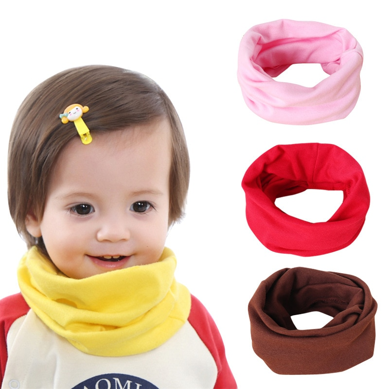New Baby Clothing Accessories Kids Scarf Autumn Winter Solid Color Baby Scarf Boys Girls Infant Scarves Children's Cotton Scarf