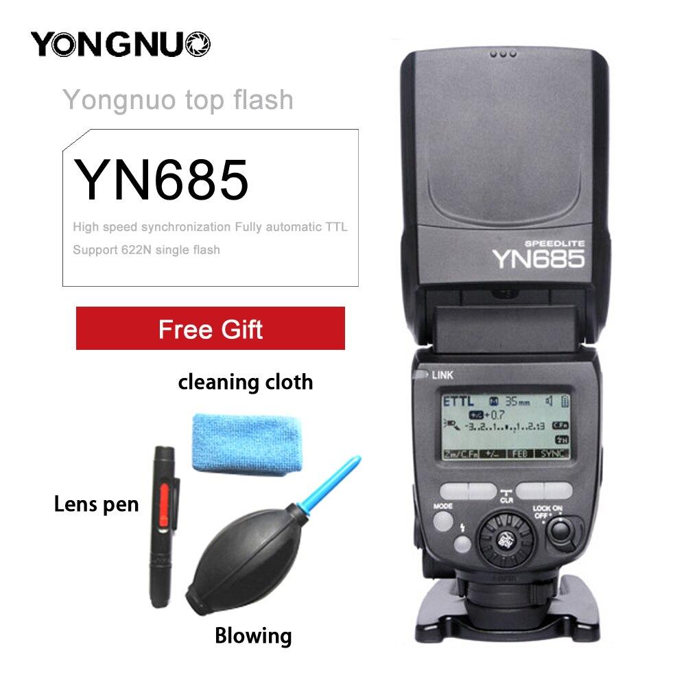 YONGNUO YN685 N/C/Flash HSS 2,4G GN60 inalámbrico maestro/esclavo Speedlite TTL Flash para Canon Nikon Cámara 5D4 60D 70D D600 D80