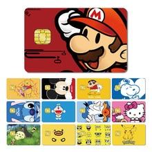 Magic Shark Crayon Shinchan Stitch Kitty  Pikachu Toroto SpongeBob Cartoon PVC Back Film Tape Sticker for Credit Card