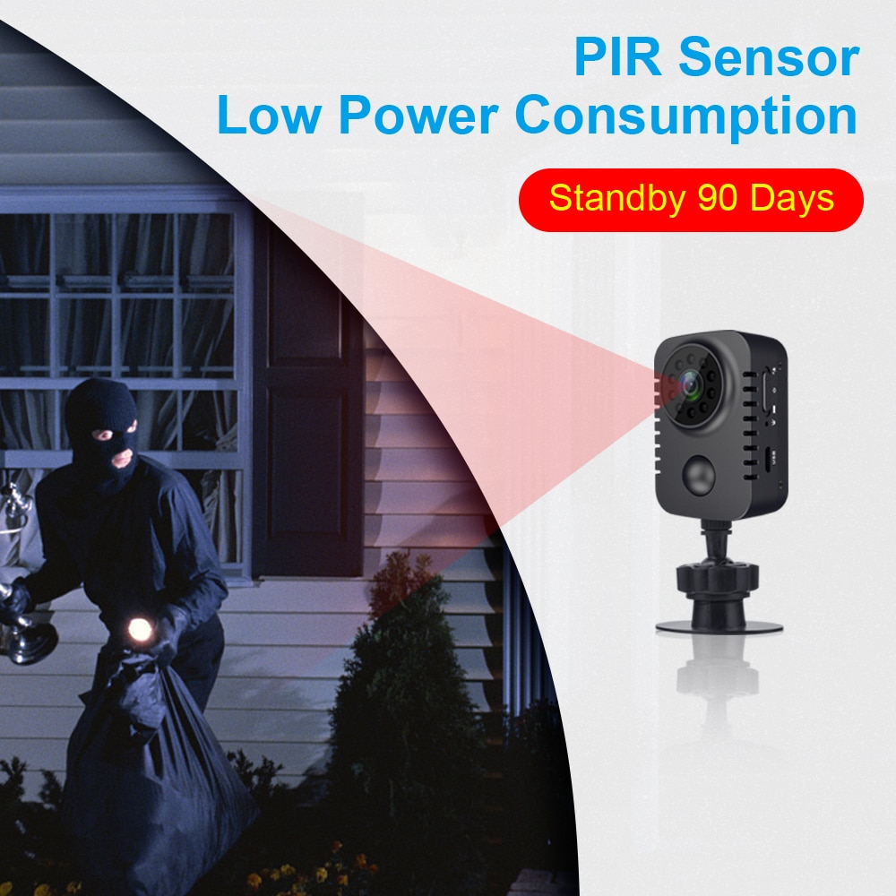 HD Mini Body Camera Wireless 1080P Security Pocket Cameras Motion Activated Small Nanny Cam for Cars Standby PIR Espia Webcam enlarge