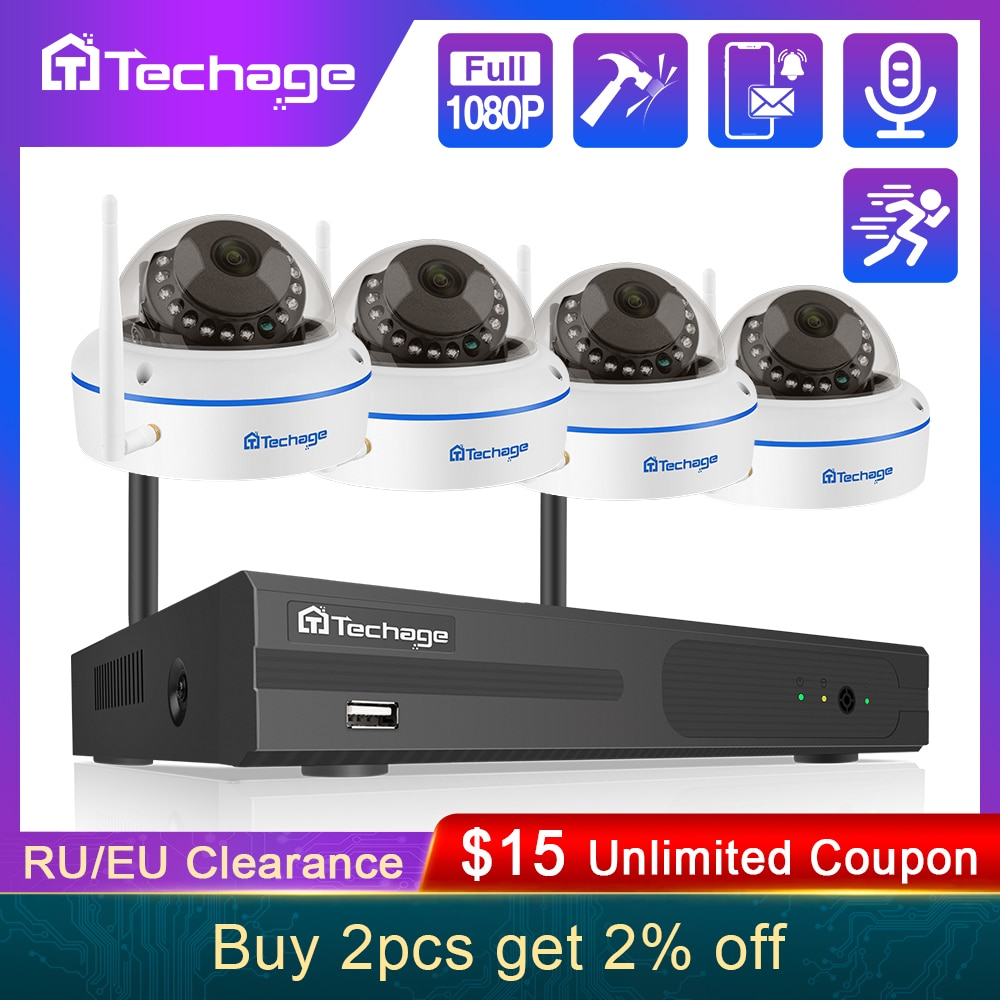 jooan security camera system wireless nvr kit wifi cctv system 4ch 1080p 2 0mp p2p indoor outdoor ip camera surveillance kits Techage 8CH 1080P Wireless NVR Kit CCTV Security System Audio Record 2.0MP Indoor Dome WiFi IP Camera P2P Video Surveillance Set