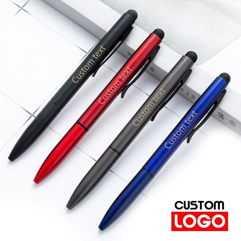 Многофункциональная металлическая сенсорная ручка на заказ шариковая ручка с логотипом канцтовары оптом с логотипом на заказ школьные при...