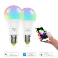 3pcs WiFi Smart Light Bulb  Dimmable  Multicolor  Wake-Up Lights  Compatible With Alexa And Google Assistant Home Decoration