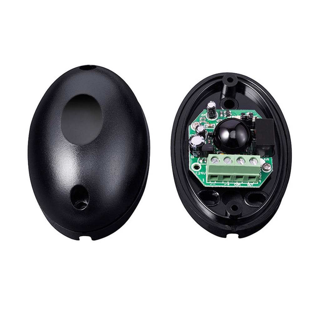 Detector infrarrojo activo, barrera fotoeléctrica de haz de ventana impermeable de plástico, Sensor de alarma, duradero, negro, seguridad individual para el hogar