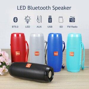 Светодиодный светильник портативный Bluetooth динамик беспроводной громкий динамик Колонка fm-радио бас стерео Водонепроницаемый Аудио Микрофон caixa de som