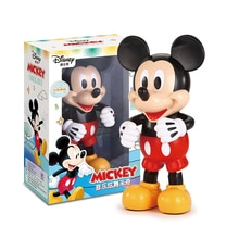 Original Disney Dancing Mickey Mouse Figure Action Dazzling Music Shiny Educational Electronic Walking Robot Kids lols Toy